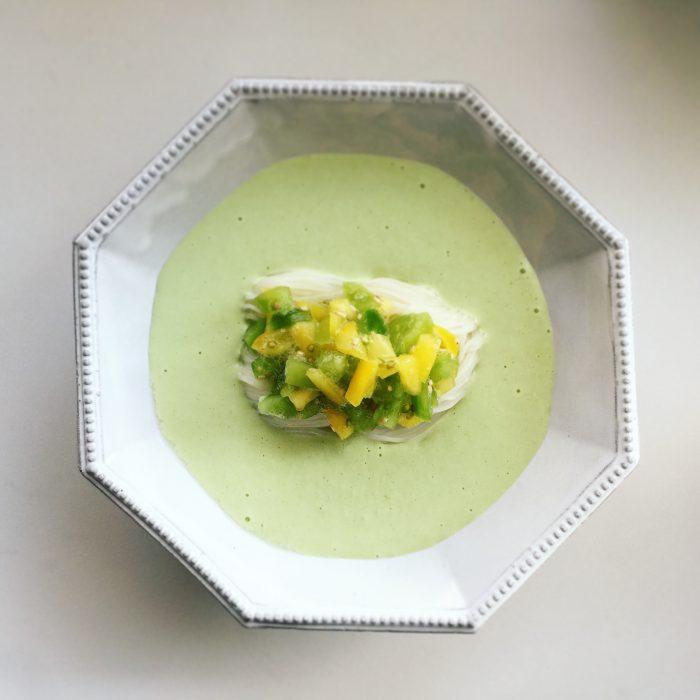 枝豆ポタージュ素麺