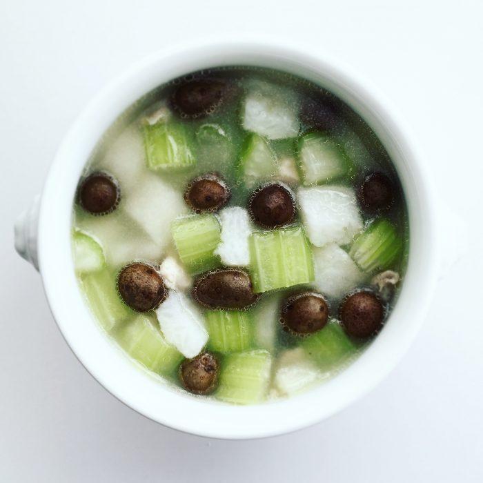 零余子(むかご)ときりたんぽのスープ