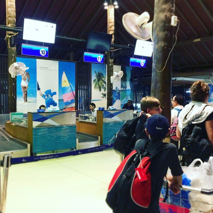 タイ サムイ空港のC.I.Q.と国際線ラウンジ