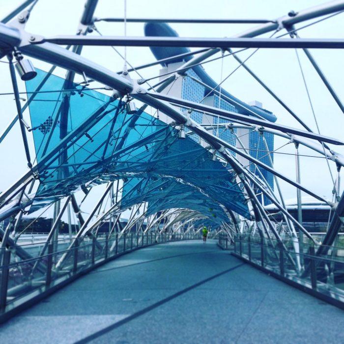 Helix Bridge〜Marina Bay Sands経由 Gardens by the Bayまでジョギング