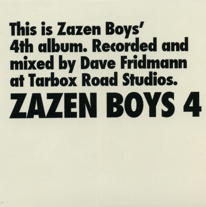 ZAZEN BOYS / ZAZEN BOYS 4 (2008 Matsuri Studio)