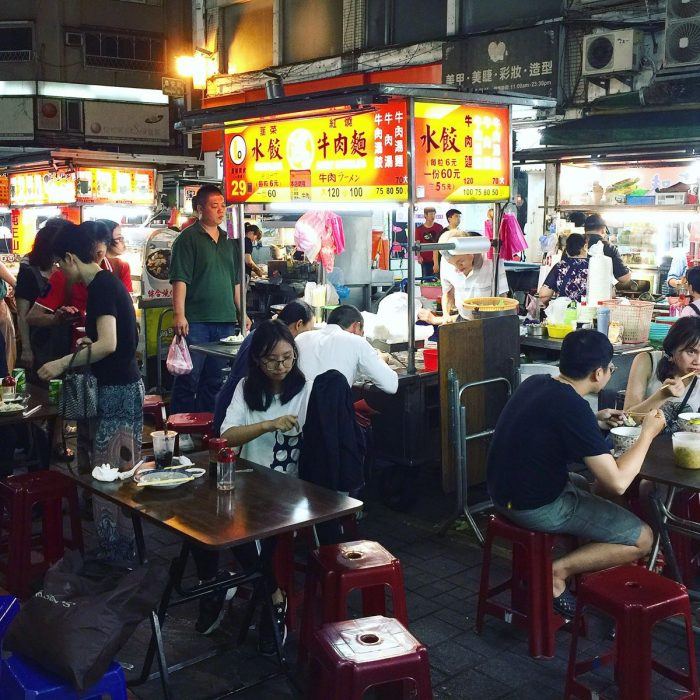 雙城夜市の人気店 鴻水餃牛肉麵 @ 台北