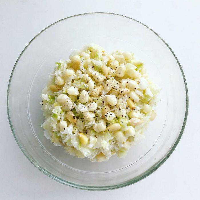 白トウモロコシと白木耳のコールスローサラダ