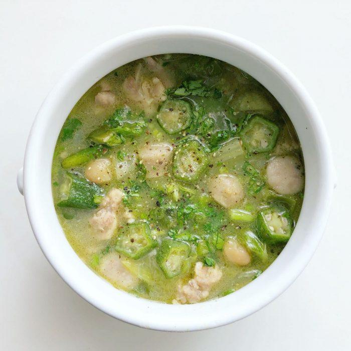 グリーンガンボスープ